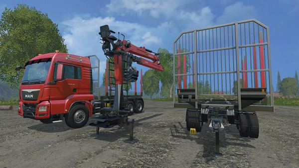 TGS short wooden train tandem v1.2