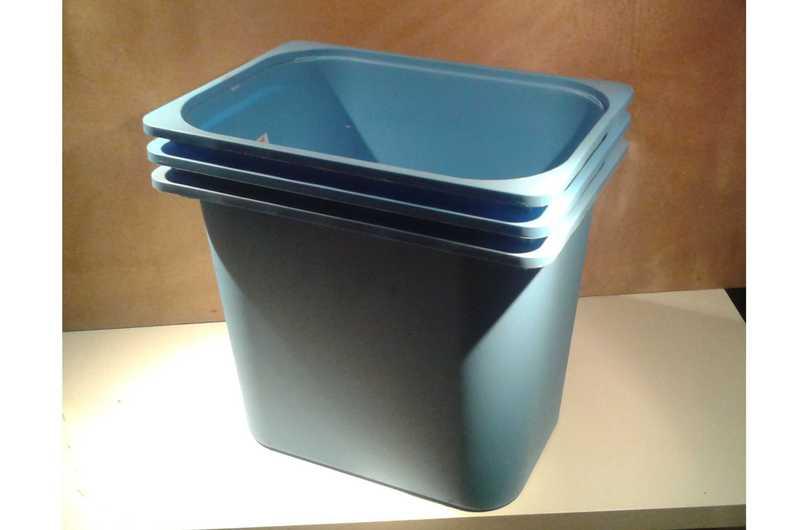 ikea trofast 3 x boxen kisten blau 42 x 30 x 36 cm ebay. Black Bedroom Furniture Sets. Home Design Ideas