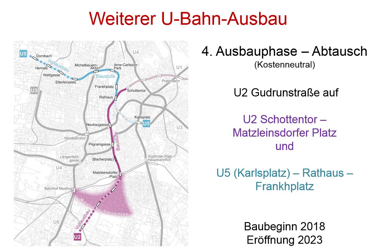 Wien Neubau Linie U5 Verlängerung U2 Matzleinsdorfer Platz