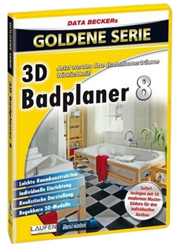 grafik data becker 3d badplaner v8. Black Bedroom Furniture Sets. Home Design Ideas