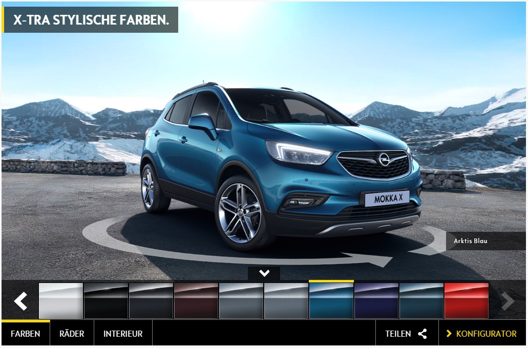 facelift opel mokka bzw neue modellversion mokka x. Black Bedroom Furniture Sets. Home Design Ideas