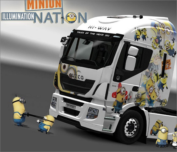 [ETS2] The Minions skin for Iveco Hi-Way Unbenanntrijc1