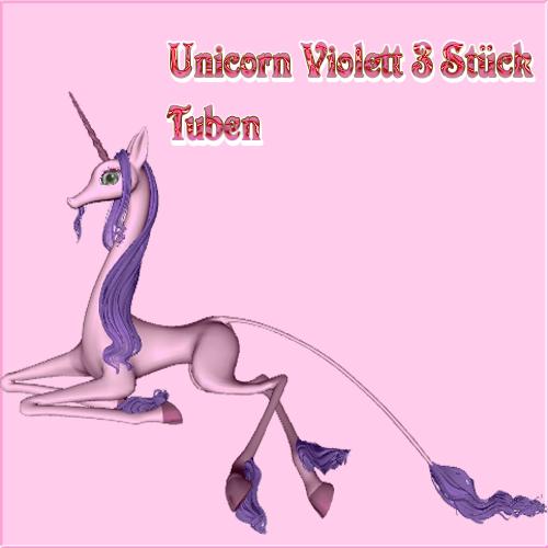 Unicorn Violett Render Set