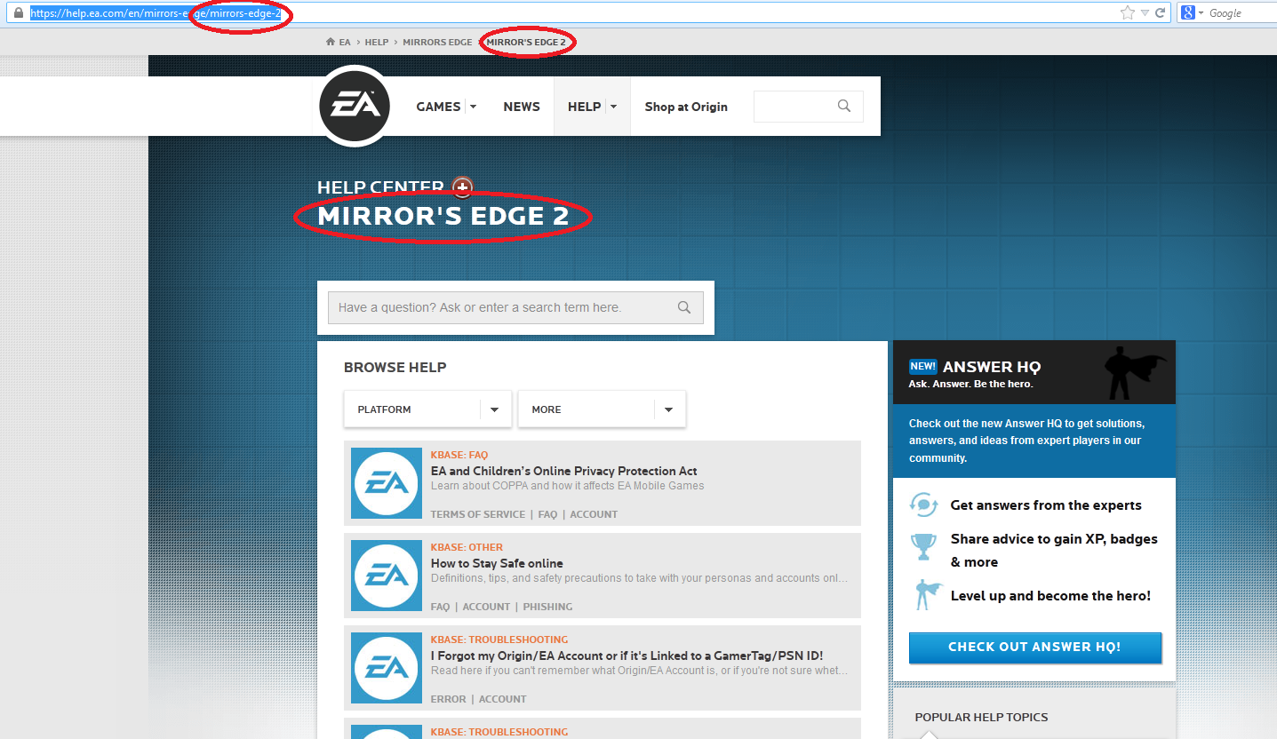 untitledt8p4f Mirrors Edge 2 Help Page found on EAs forums