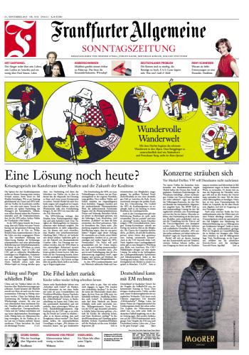 Frankfurter Allgemeine Sonntags Zeitung 23 September 2018