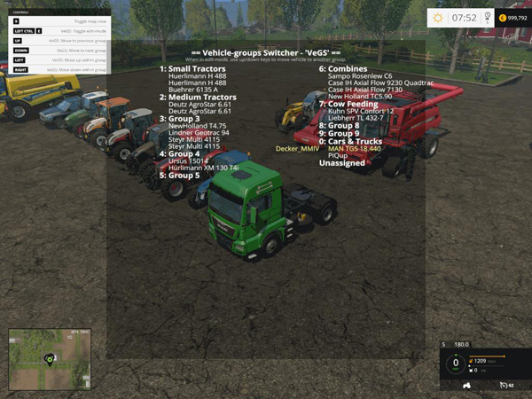 Vehicle groups Switcher - VeGS v2.0.6