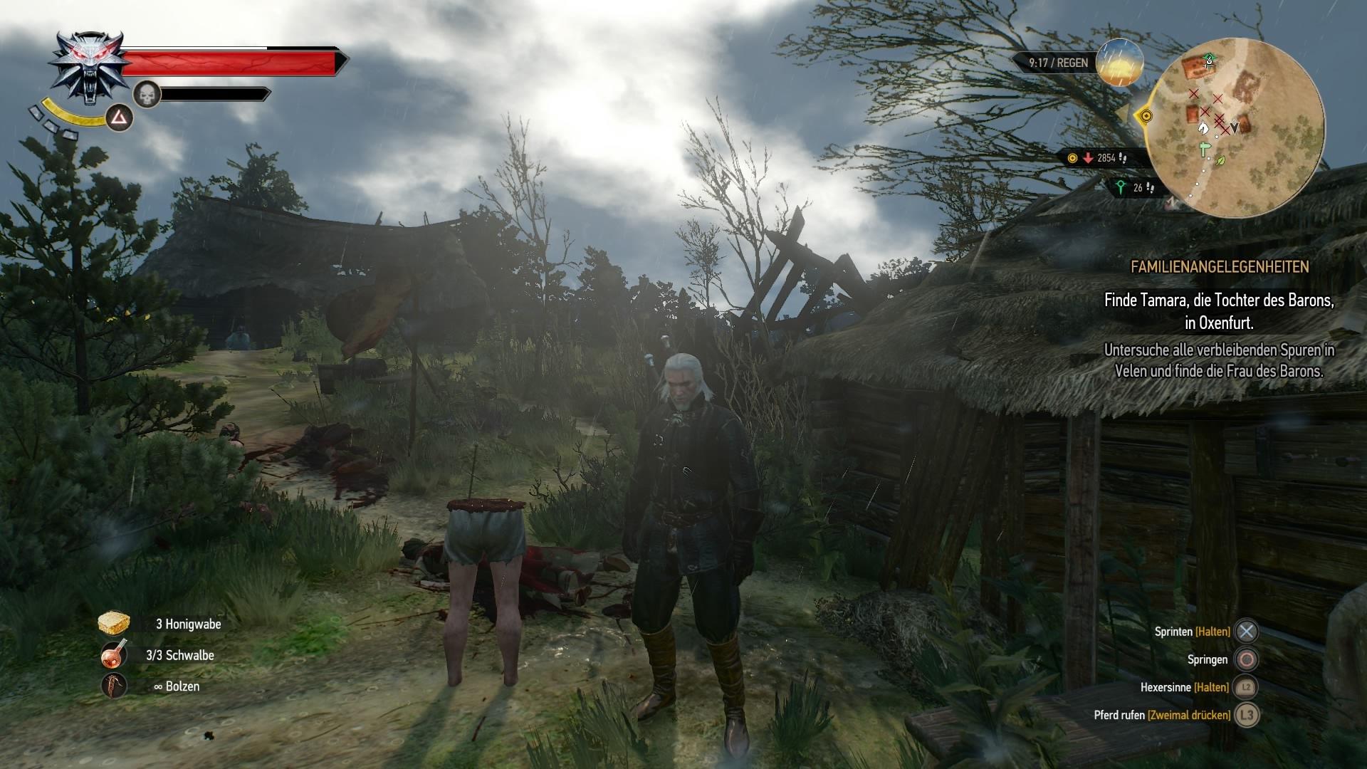the witcher finde die frau des barons