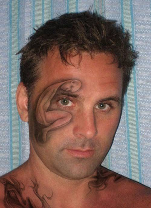 Tatuaże na twarzy #2 6
