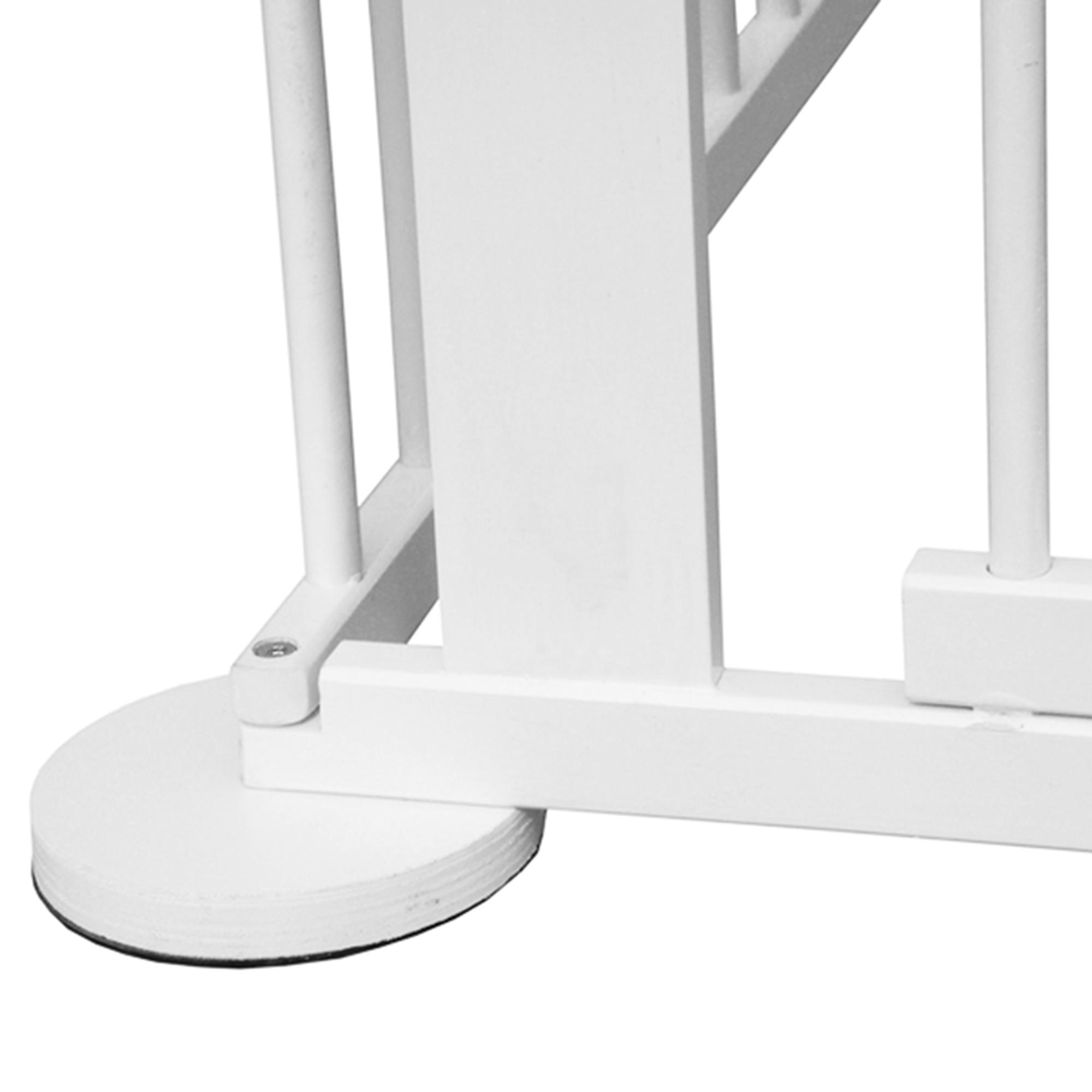 kiduku laufstall wei absperrgitter kaminschutzgitter laufgitter 7 2 m mit t r ebay. Black Bedroom Furniture Sets. Home Design Ideas