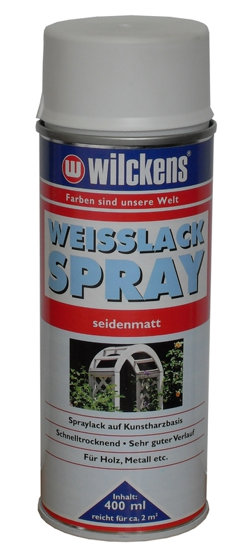 weisslack lackspray 15 l spr hdose lack hochglanzlack weiss m bellack holzlack ebay. Black Bedroom Furniture Sets. Home Design Ideas