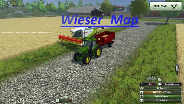 Wieser Map v 1.2 mit Schweine Mod Mist und Gulle Mod und Water Mod