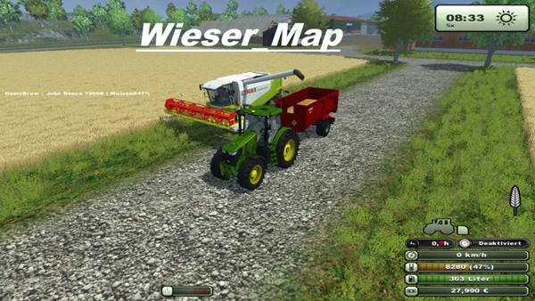 Wieser Map v 1.1 mit Water Mod und Gulle und Mist Mod