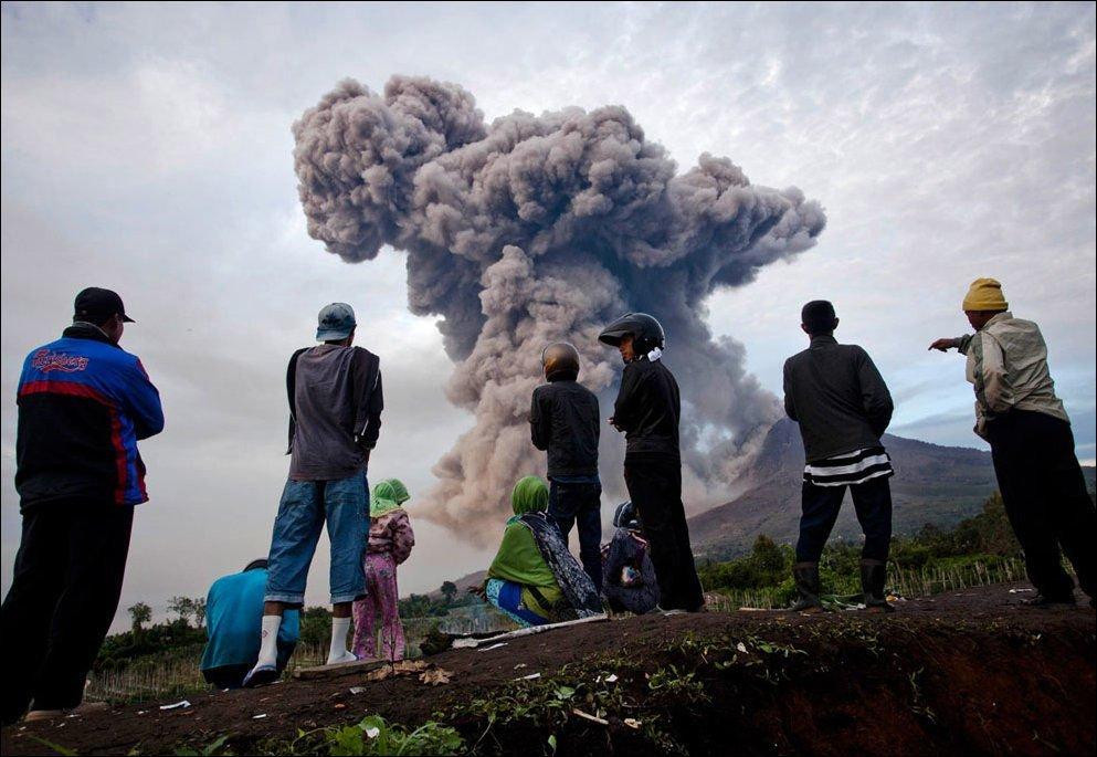 Erupcja wulkanu Sinabung 3