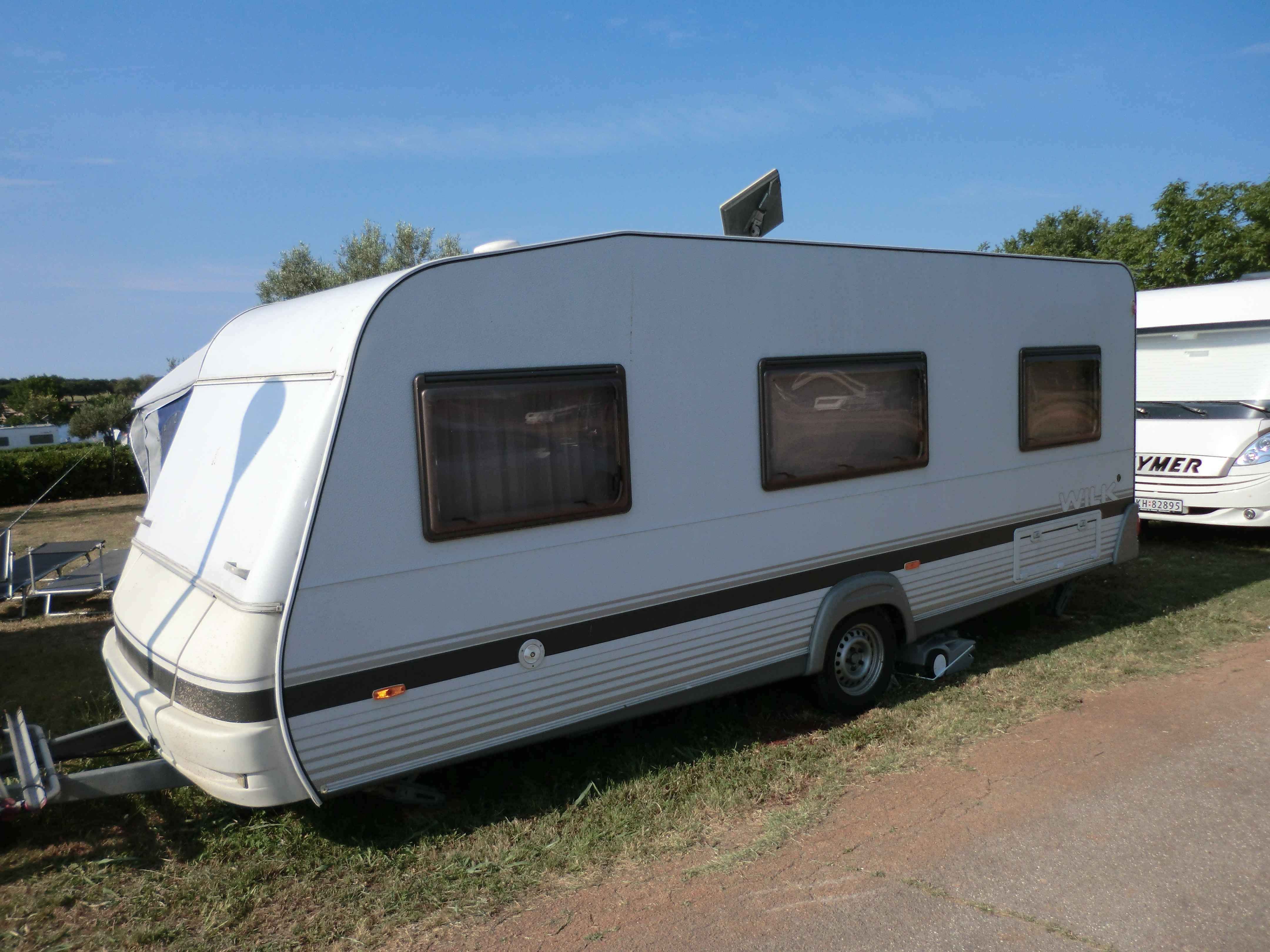 Top Wohnwagen Wilk 560 Dm 2 3 Mit Vorzelt Markise