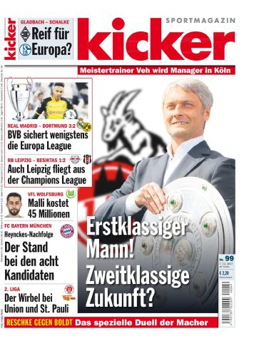 :  Kicker Sportmagazin No 99 vom 07 Dezember 2017