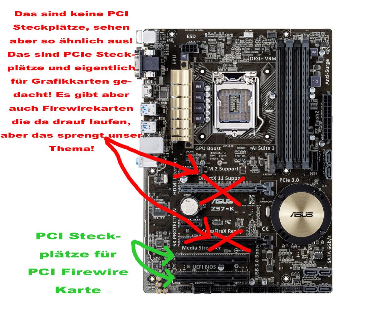 PC ganz einfach mit Firewire PCI Karte aufrüsten | Sequencer.de ...