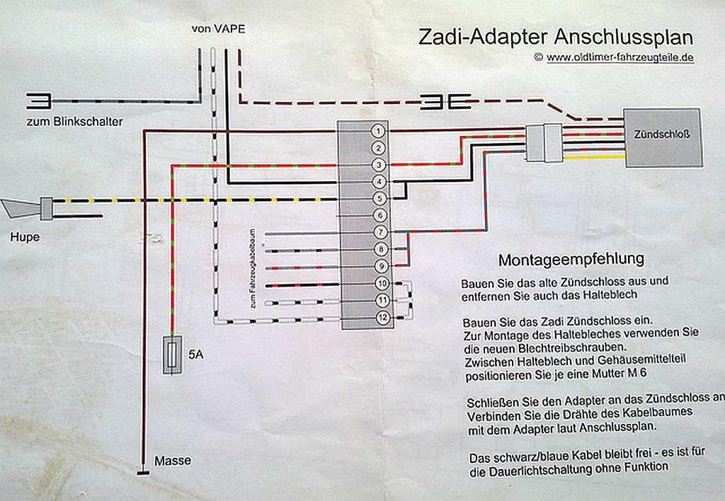 Fantastisch Schaltplan Zündschalter Galerie - Die Besten ...