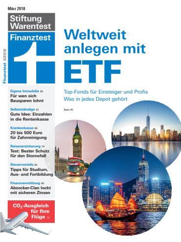 Stiftung Warentest Finanztest Magazin März No 03 2018