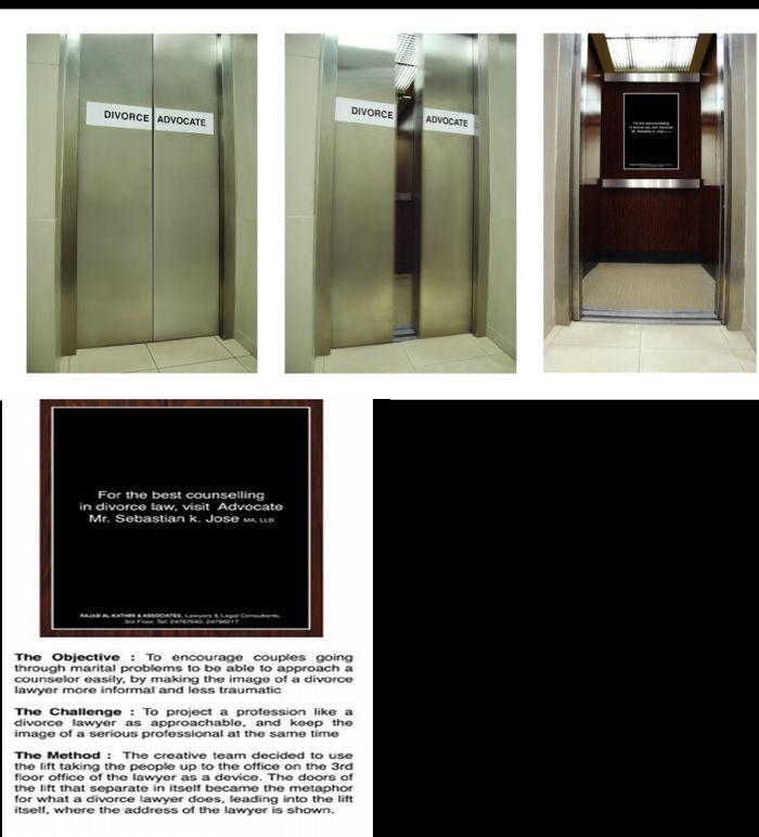 Pomysłowe reklamy w windach 23