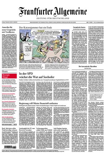 Frankfurter Allgemeine 21 September 2018