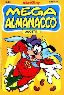 Mega Almanacco 344 - Le vacanze di Paperino: Il grande orso rosso (08-1985)