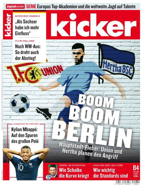 Kicker Sportmagazin No 84 vom 15 Oktober 2018