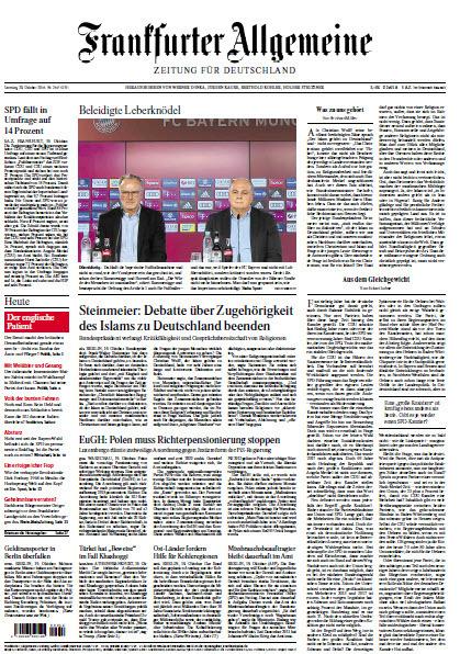 Frankfurter Allgemeine 20 Oktober 2018