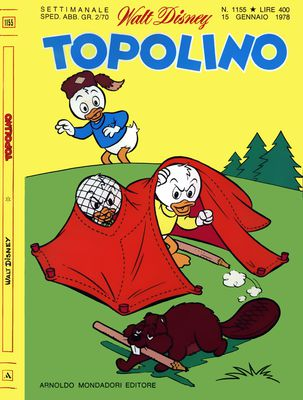 Topolino 1155 - Paperino e l'imprevedibile Kangur-Papero (01-1978)