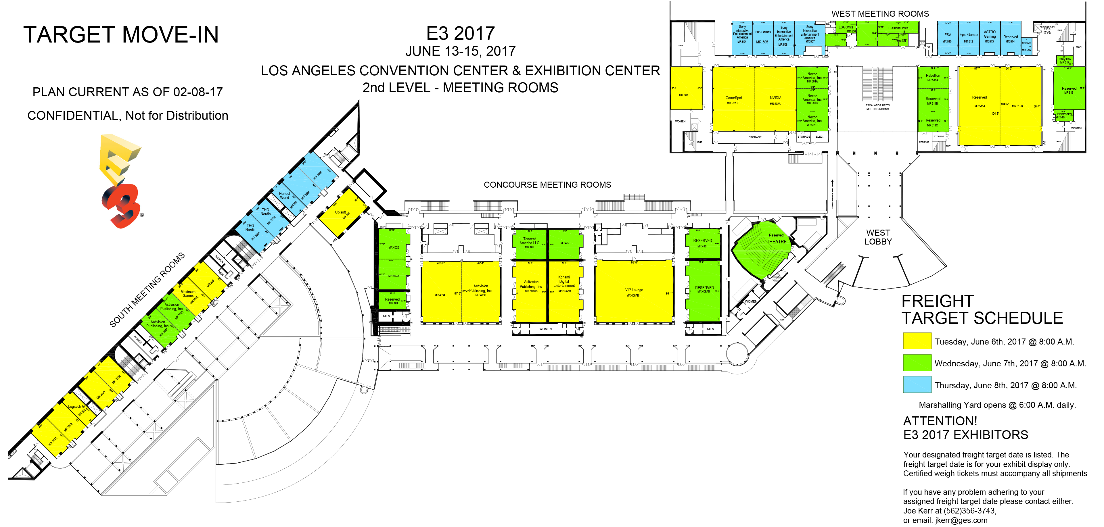 the e3 2017 floor plans are up preliminary partially neogaf