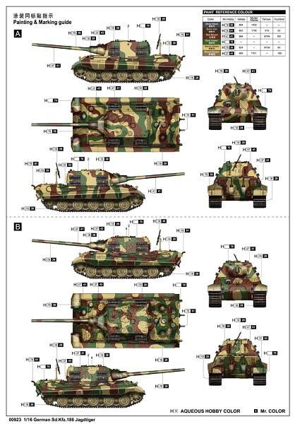 Sd Kfz 186 Jagdtiger 1:16 Trumpeter 035-bemalung2czunl
