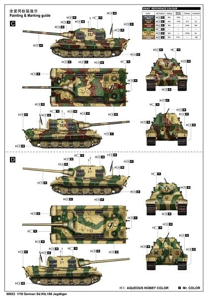 Sd Kfz 186 Jagdtiger 1:16 Trumpeter 036-bemalung23bujx