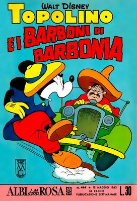 Albi della rosa 444 - Topolino e i barboni di Barbonia (1963-05-12)
