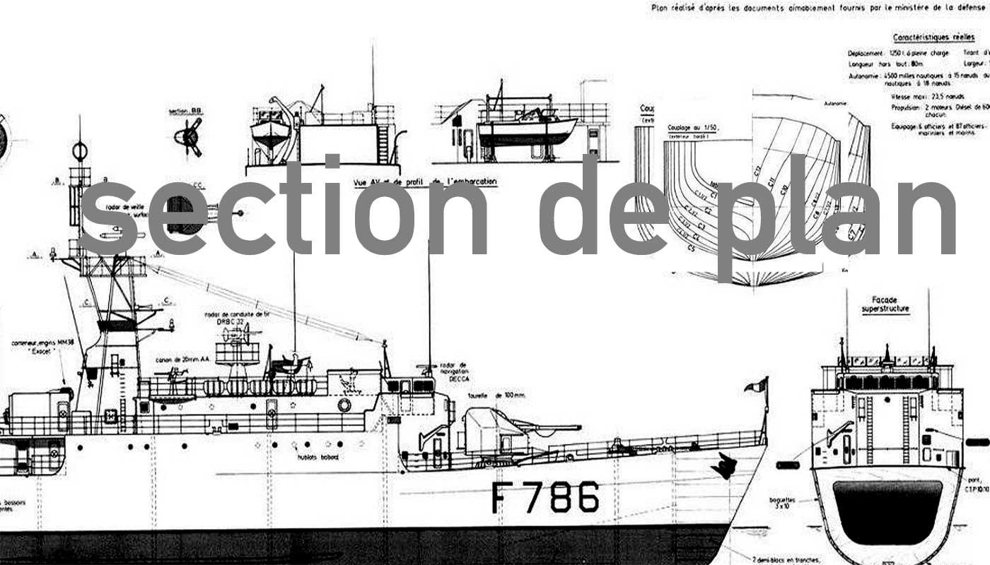 """Aviso A 69 """"Classe d'Estienne d'Orves"""" F790 Lieutenant de vaisseau Lavallée / Propre construction 1: 06-planauschnittrwkwu"""