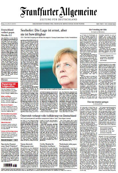Frankfurter Allgemeine 18 Juni 2018