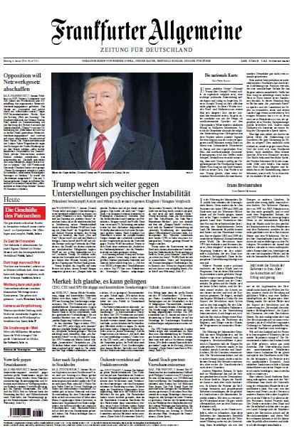 Frankfurter Allgemeine 08 Januar 2018