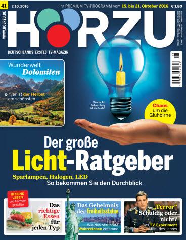: Hörzu Fernsehzeitschrift No 41 vom 15.-21 Oktober