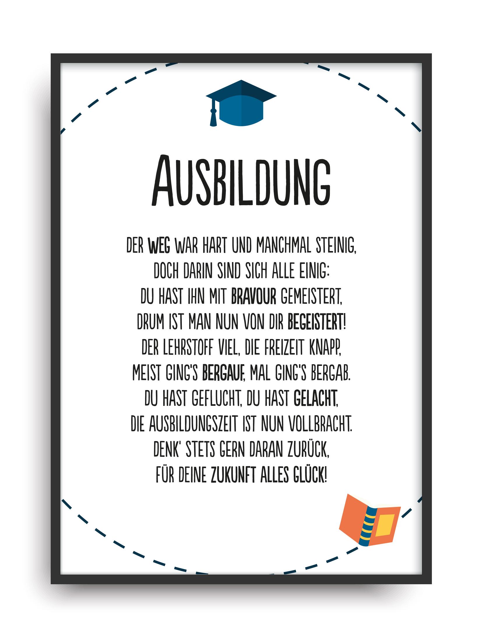 Geschenk Zur Bestandenen Ausbildung Azubi Prüfung A4 Bild