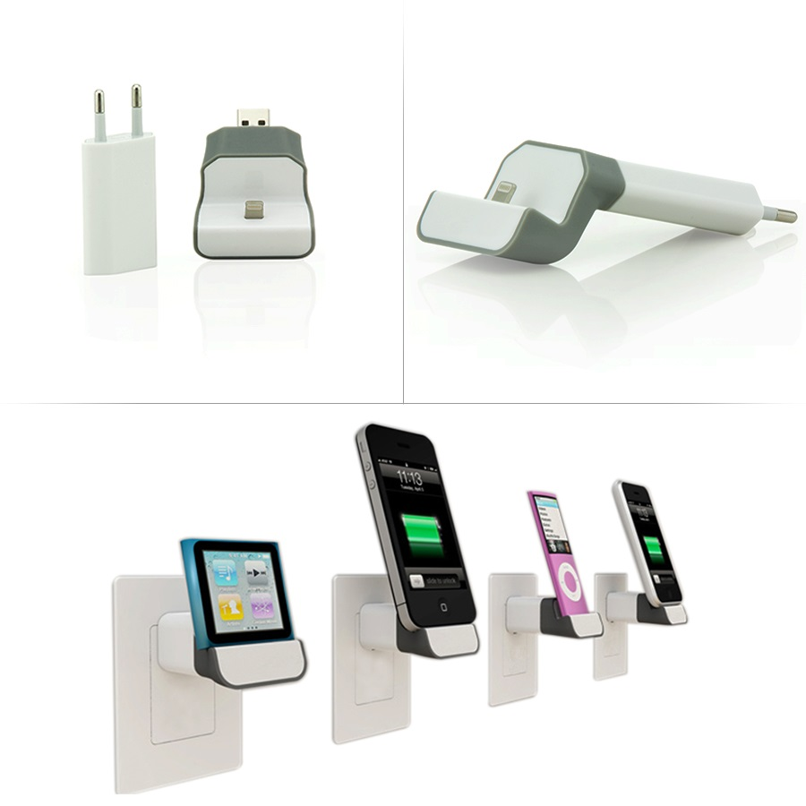 netzteil lade ger t docking station kabellos f apple iphone 5g 5s 5c ipod 8 pin ebay. Black Bedroom Furniture Sets. Home Design Ideas
