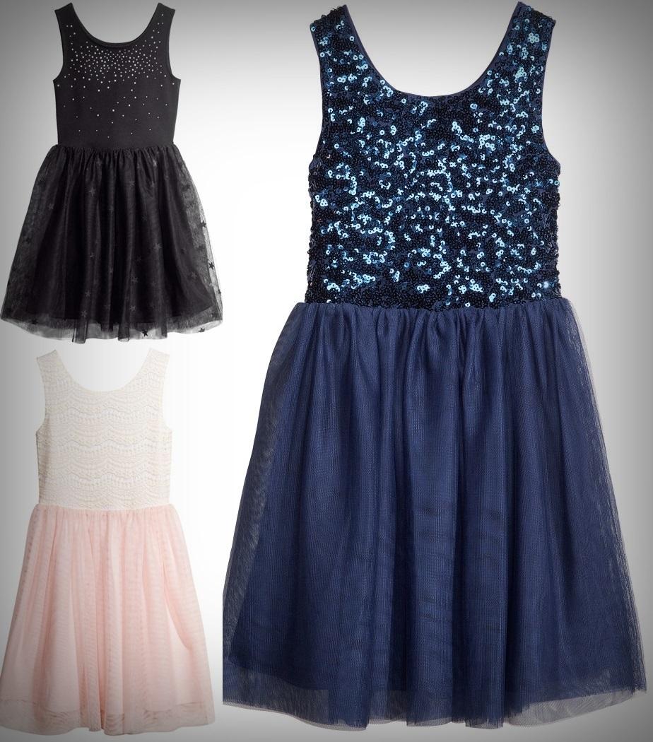 h&m kleid mädchen schwarz,blau,rosa spitze gr