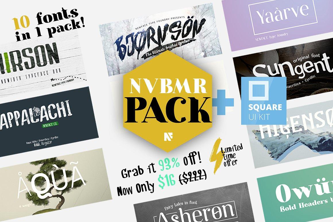 10 Fonts pack + UI Kit 1038116
