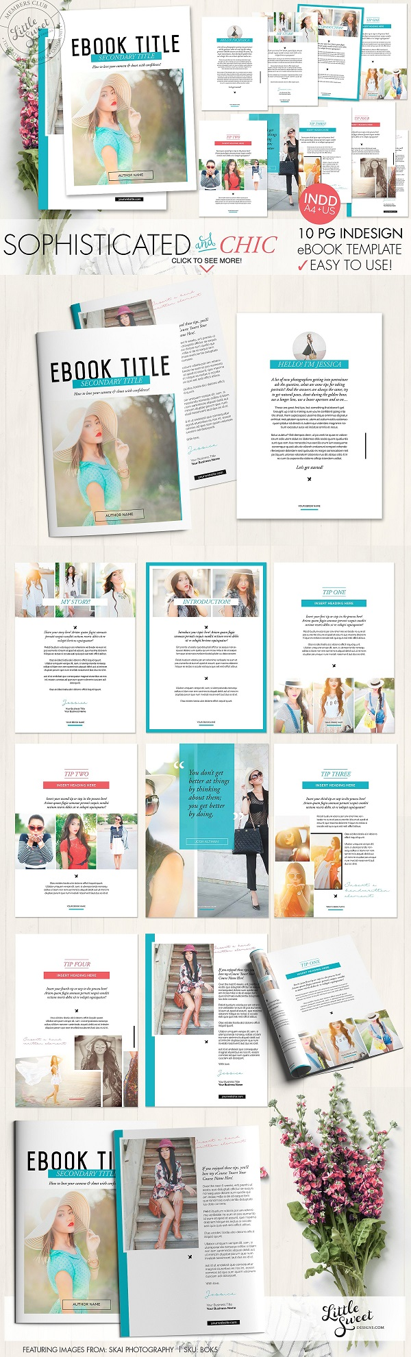 10 page InDesign eBook Template 999955