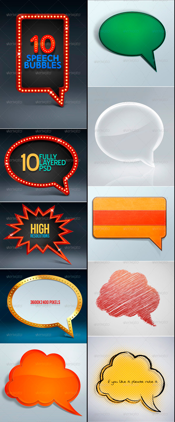 Speech Bubbles Vector Design