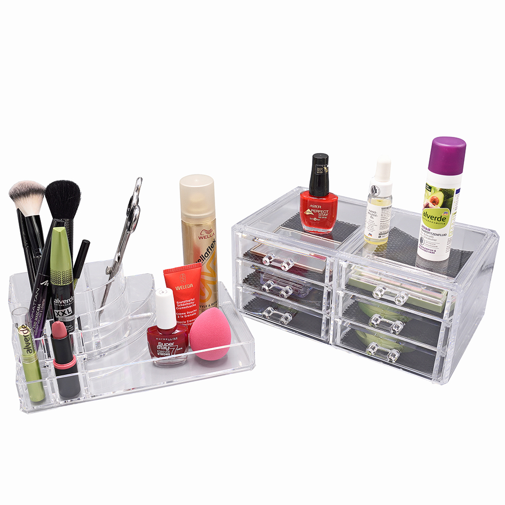 kosmetik organizer make up acryl aufbewahrung beauty kosmetikbox 6 schubladen. Black Bedroom Furniture Sets. Home Design Ideas
