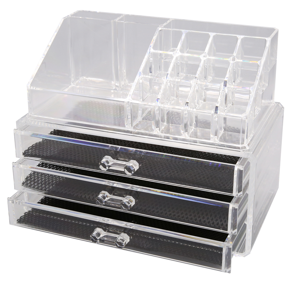 kosmetik organizer make up acryl aufbewahrung beauty kosmetikbox schubladen box. Black Bedroom Furniture Sets. Home Design Ideas