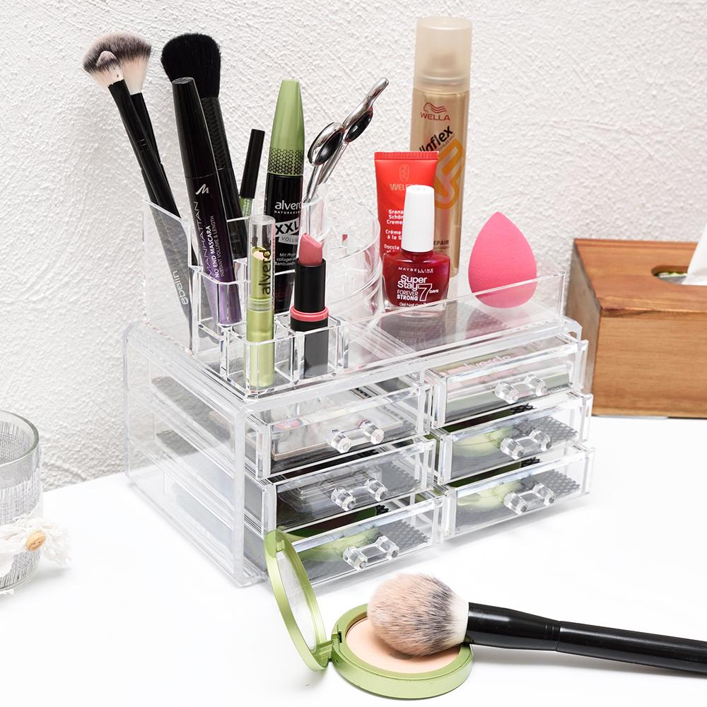 kosmetik organizer make up acryl aufbewahrung beauty kosmetikbox 6 schubladen. Black Bedroom Furniture Sets. Home Design Ideas