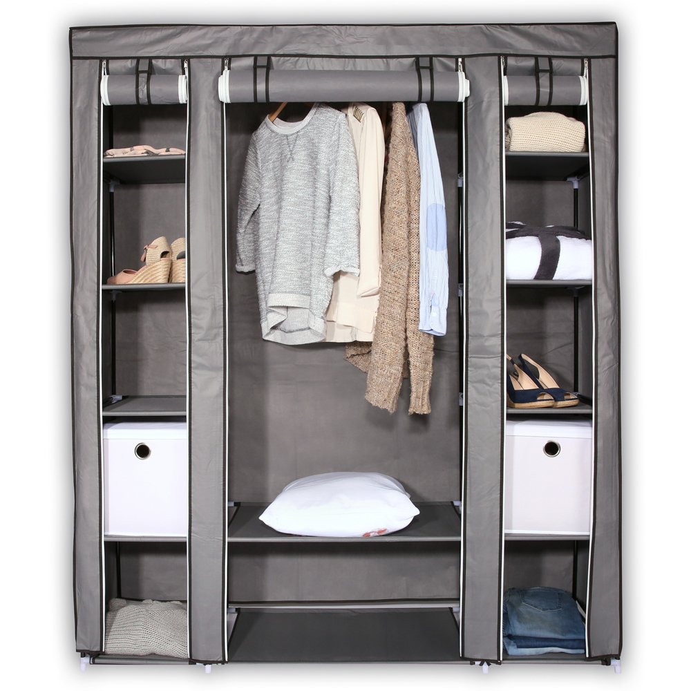 faltschrank kleiderschrank garderobenschrank campingschrank stoffschrank textil ebay. Black Bedroom Furniture Sets. Home Design Ideas
