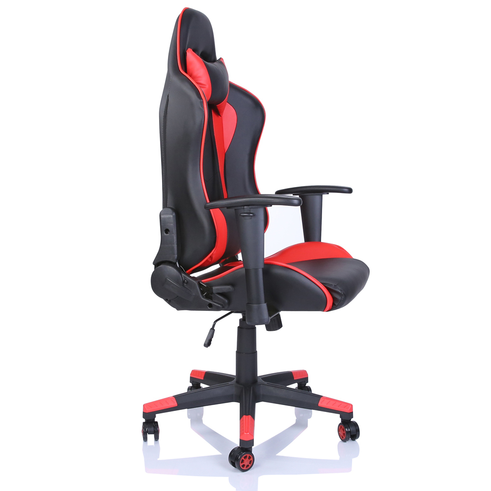 chefsessel sportsitz b rostuhl racing gaming schreibtischstuhl drehstuhl rot. Black Bedroom Furniture Sets. Home Design Ideas