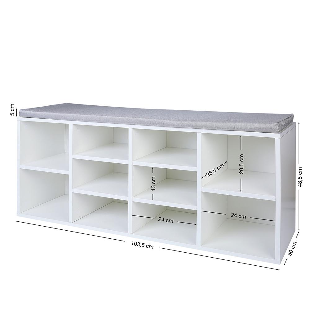 schuhschrank mit sitzkissen sitzbank schuhablage schuhregal aufbwahrung holz ebay. Black Bedroom Furniture Sets. Home Design Ideas