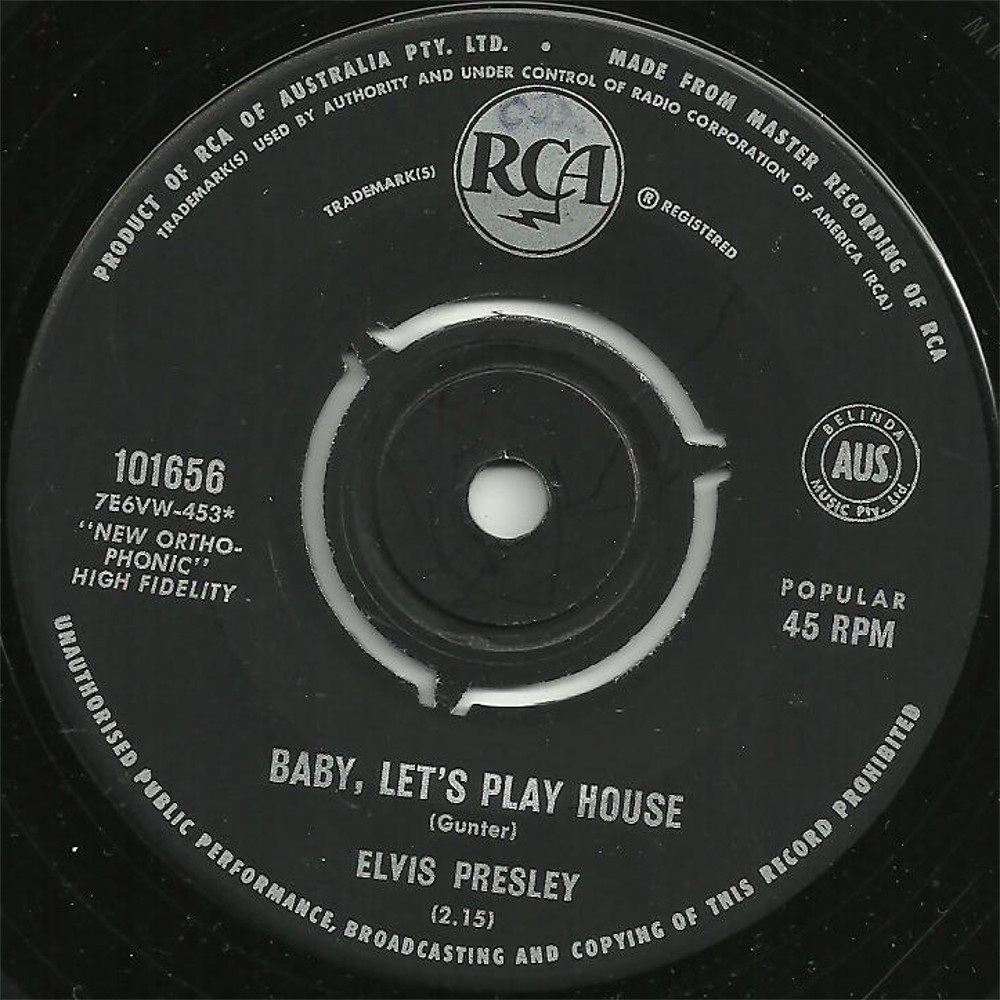 Baby Let's Play House / I'm Left, You're Right, She's Gone 101656c3psy3
