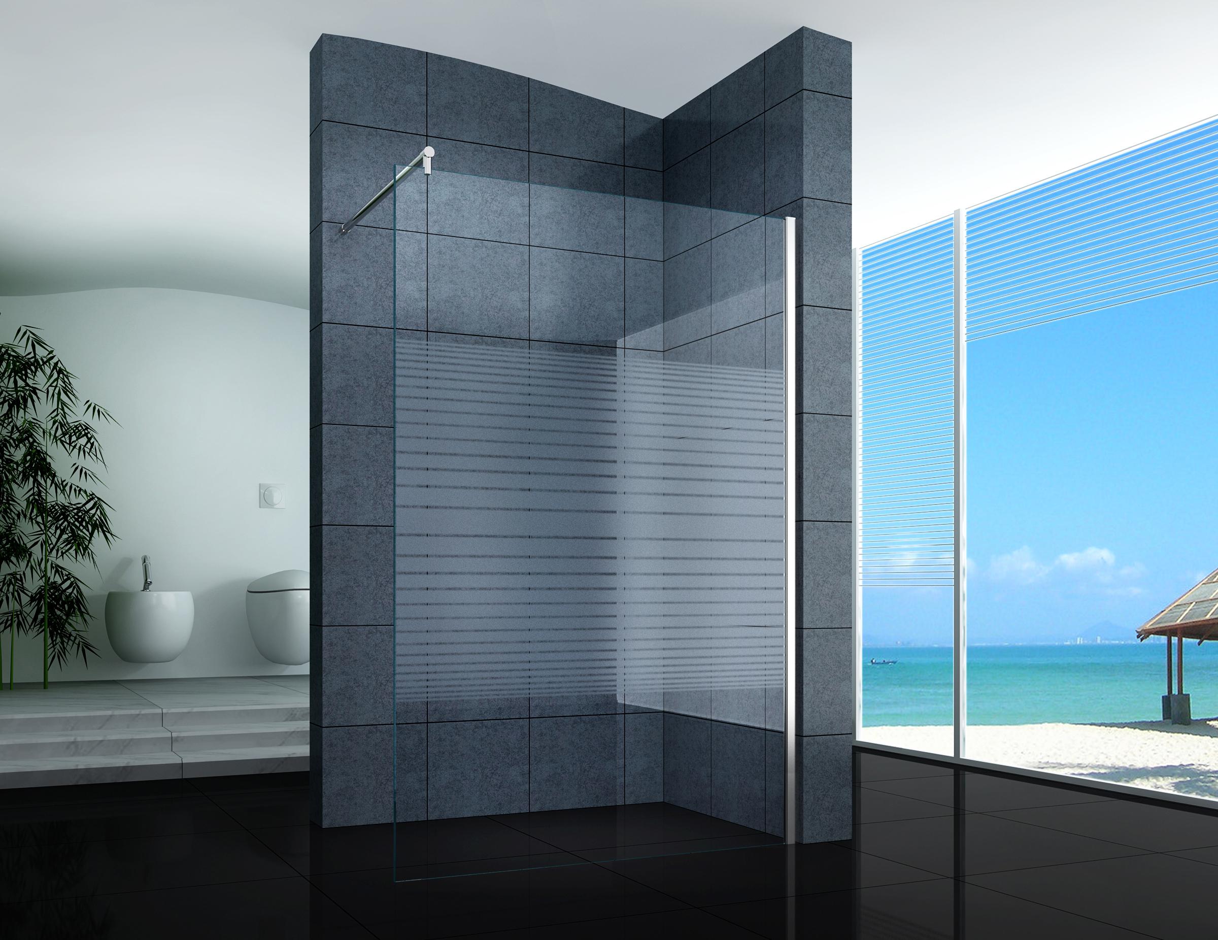 Walk in duschabtrennung duschwand seitenwand 40 160 cm - Duschwand reinigen ...